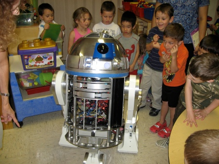 R2 and the kids